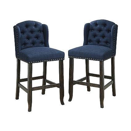 Fabulous Amazon Com 247Shopathome Idf 3324Bk Bl Pcw Chilmark Counter Machost Co Dining Chair Design Ideas Machostcouk
