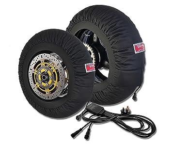 Diamond Digital tipo de neumático calentadores – Supersport/Superbike tamaño (120 frontal,