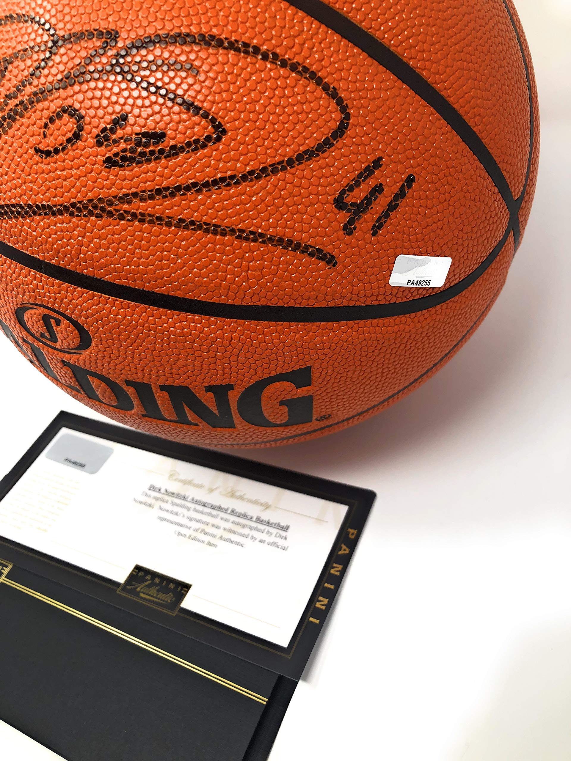 Dirk Nowitzki Dallas Mavericks Signed Autograph NBA Game Basketball Black Ink Panini Authentic Certified