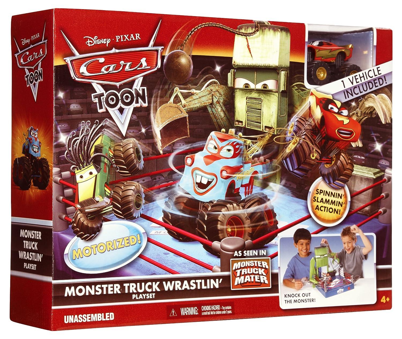Amazon Com Cars Toon Monster Truck Wrastlin Ring Toys Games