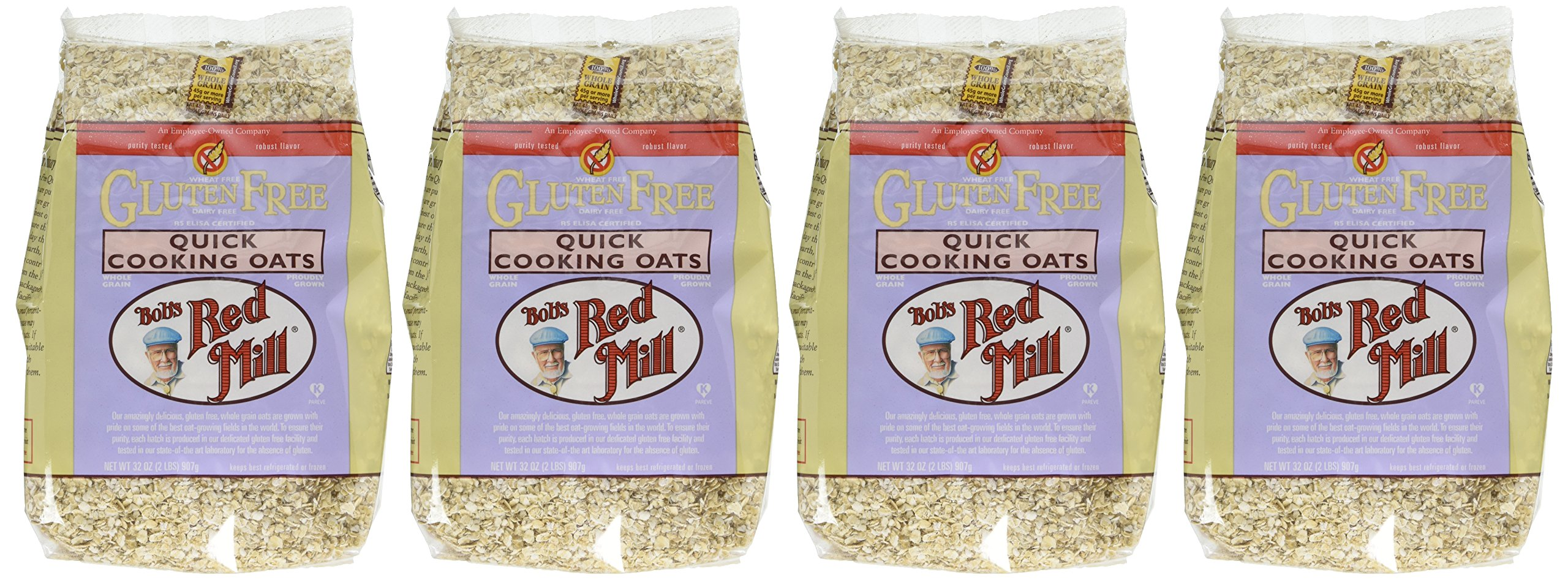 Bob's Red Mill Gluten Free Organic Quick Cooking Rolled Oats, 32 Oz (4 Pack) by Bob's Red Mill (Image #2)