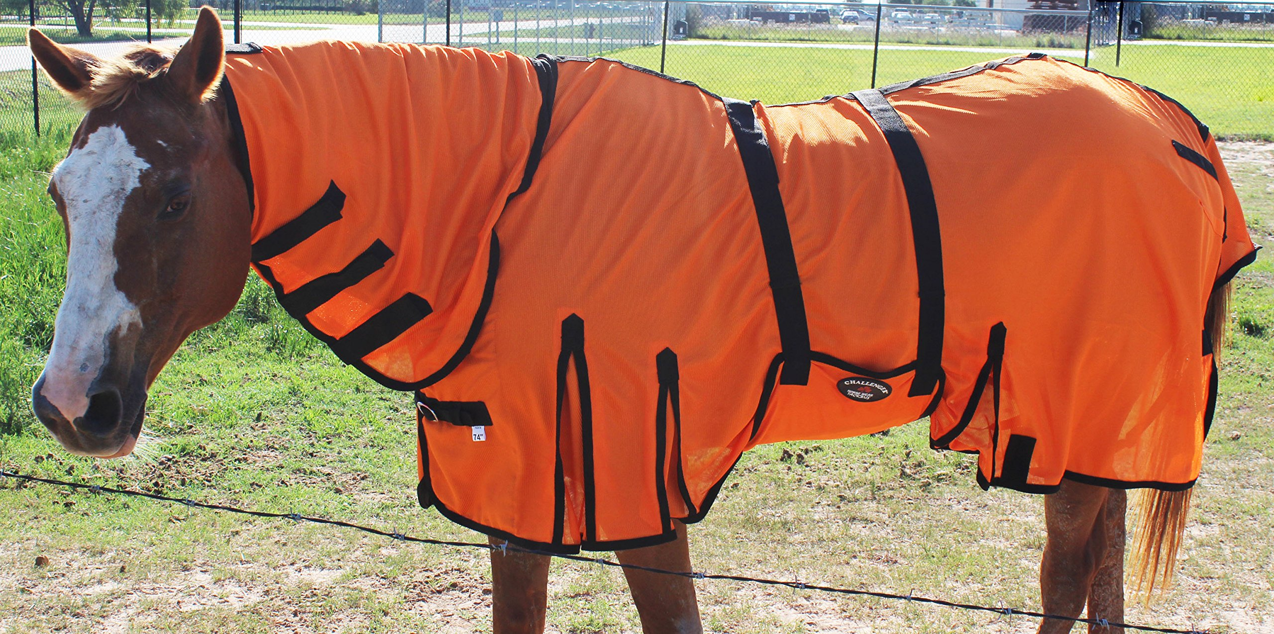 Challenger Horsewear 78'' Horse Bug Mosquito Fly Sheet Summer Spring Airflow Mesh UV Neck 73148
