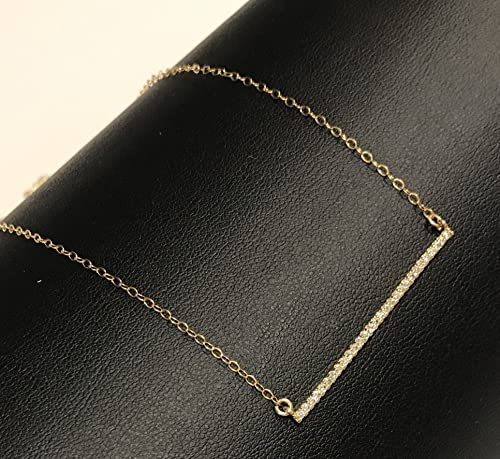 Dainty Designs 14ky Bar Necklace with out Chain Mounting One size