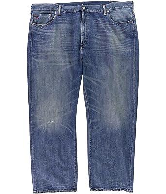 ac4bf0c5d3ad9 Ralph Lauren Polo Men's Big & Tall Hampton Straight Stretch Jeans -LWC-48Bx30L