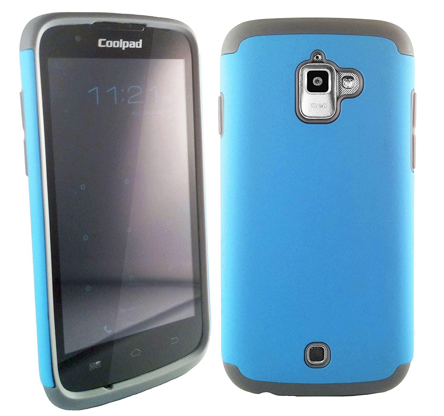 Amazon.com: Coolpad Quattro 2 (801e 801es) Case Cover - Zadikase Retail  Packaging - Free Screen Protector Film (Light Blue): Cell Phones &  Accessories