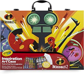 Crayola Disney Pixar Incredibles 2 Inspiration Art Case, 125 Pieces Art Gift for Kids 5 & Up, Crayons, Markers, Colored Pencils & Coloring Pages In A Convenient Incredibles 2 Carrying Case