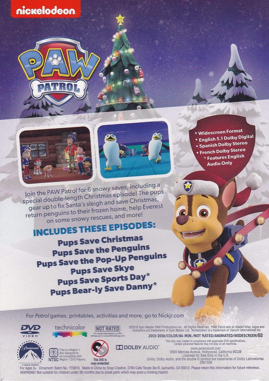 Pups Save Christmas.Amazon Com Paw Patrol Pups Save Christmas Dvd And Ornament