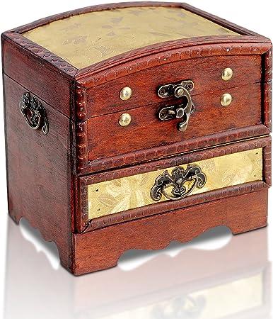 Brynnberg - Caja de Madera de Cofre del Tesoro Pirata: Amazon.es: Hogar