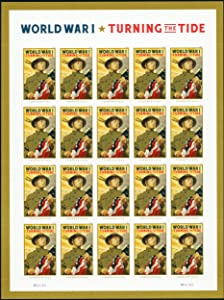 WWI Turning The Tide Pane of 20 Forever Postage Stamps Scott 5300