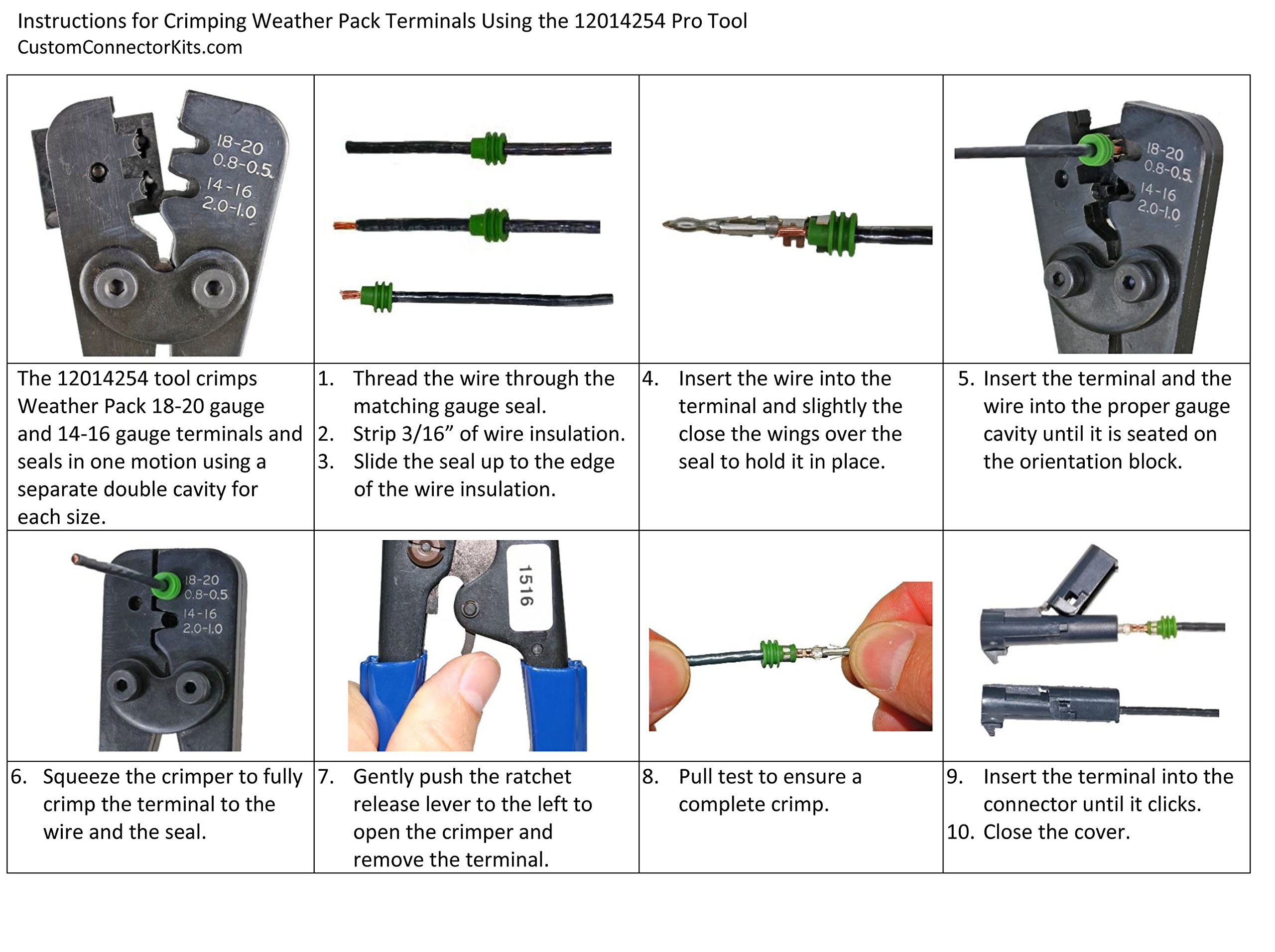 Delphi Weather Pack Connector Kit WP-155 With Pro Tool: Sealed Weatherproof Automotive Electrical Connectors 20-12 Gauge 155 Piece Kit With 12014254 Pro Crimp Tool by DELPHIKITS (Image #5)