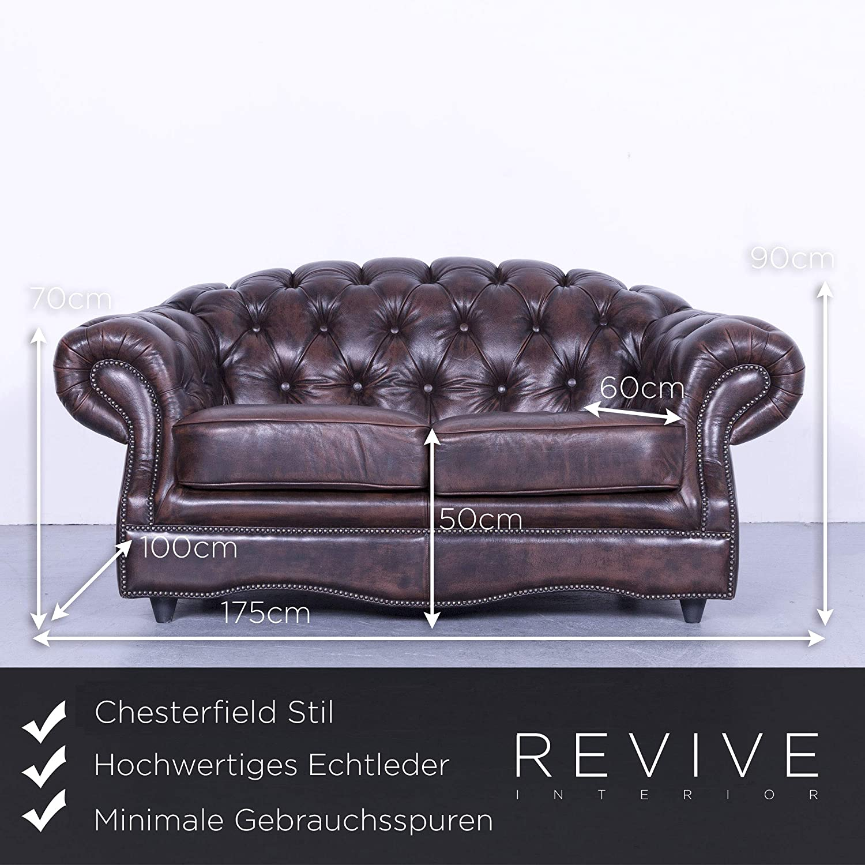 Schön Couch Echtleder Galerie Von Conceptreview: Chesterfield Sofa Braun Zweisitzer Vintage #5632: