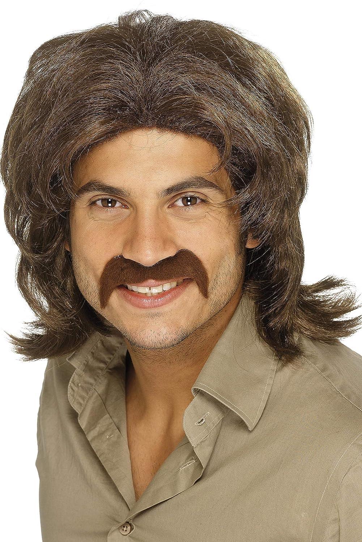 Smiffys Men's 70's Retro Wig Fringed One Size 5020570420195 RH Smith & Sons LTD
