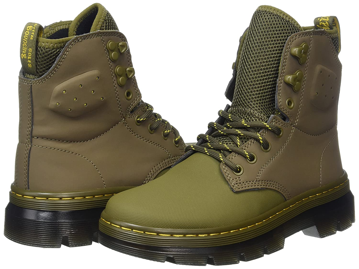 Quinton Mid Olive Ajax+Synthetic Nubuck, Bottes Mixte Adulte, Vert (Mid Olive), 39 EUDr. Martens