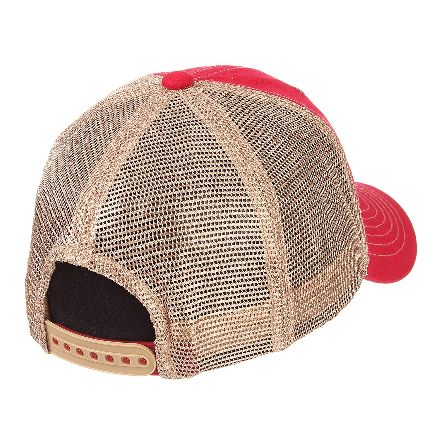 Adjustable Zephyr Mens Tatter Relaxed Cap Dark Red