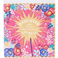 The Art File ARTSUR02 Daughter Sparkle Greeting Card
