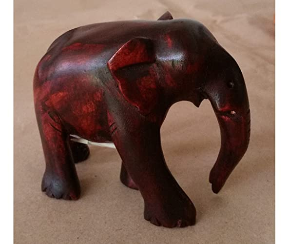 Amazon Real Natural Wooden Lucky Elephant Trunk Down 100 Wood