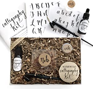 Calligraphy Starter Kit - Beginner Calligraphy Lettering Set - Beginning Modern Calligraphy DIY Kit - Oblique Pen Hand Lettering with Nib