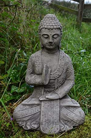 Garden Ornaments by Onefold BU27 Blessing Welsh Buddha Stone Statue ...