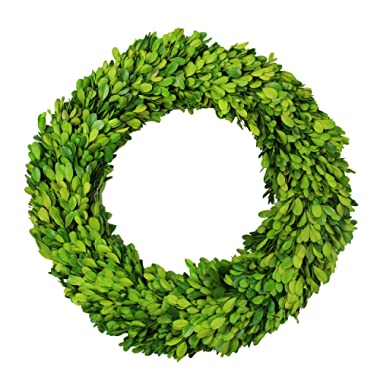Preserved Boxwood Wreath Decor, Boxwood Round Wreath, Preserved Garden Wreath for Home Décor (16 inch)