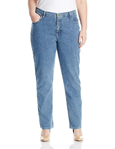 Riders by Lee Indigo Womens Plus Size Joanna Classic 5 Pocket Jean