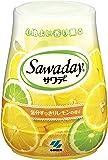 サワデー 消臭芳香剤 トイレ用 本体 気分すっきりレモンの香り 140g