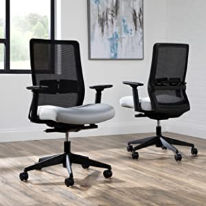 HON BASYX Biometryx Commercial-Grade Task Chair, Office Chair, in Grey