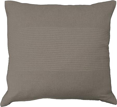 meilleures offres sur gamme exclusive nouveau sélection douceur d'intérieur housse de coussin 40x40 cm coton lana taupe