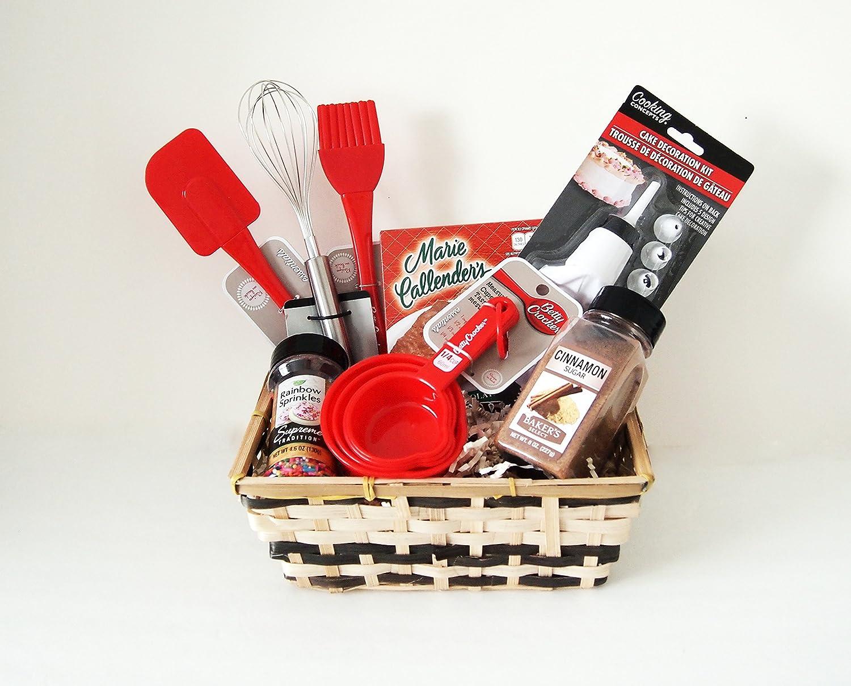 Amazon.com: Joice Bakers Baking Kitchen gift Basket Bake ware Set: Kitchen & Dining