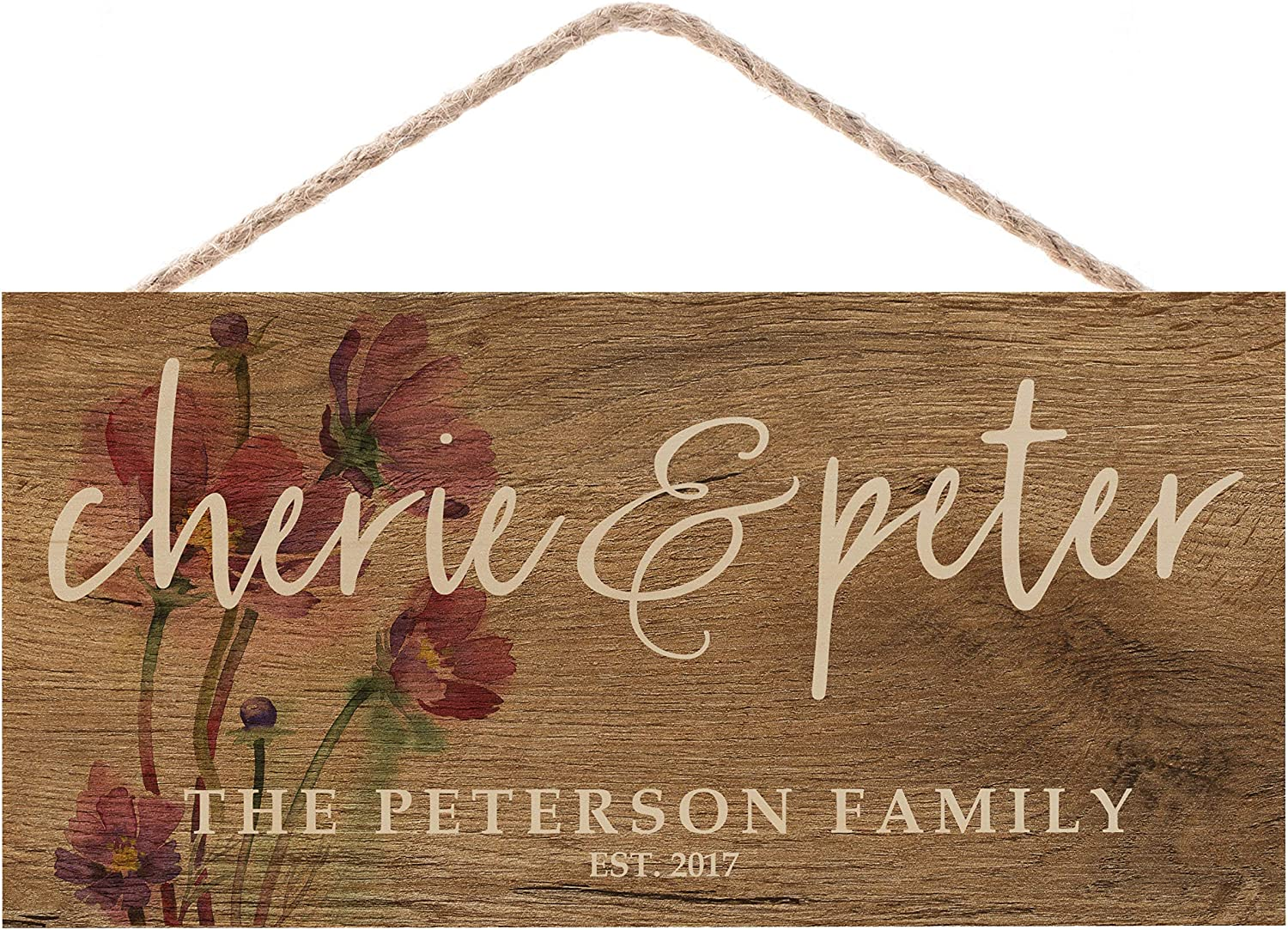 Naive Argo Personalized Wall Décor Wood Sign | Customize Farmhouse Home Decoration | Anniversary Mother's Day Wedding Christmas Housewarming Gift | Bridal Gifts |C01D08 | 6x12