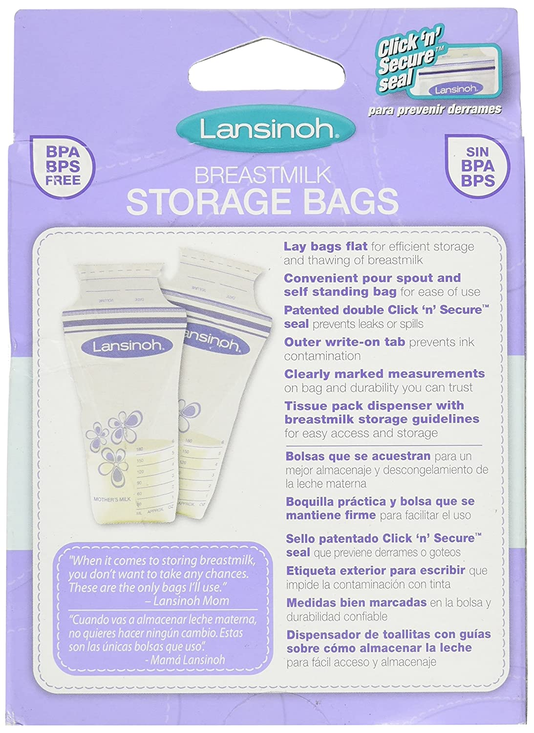 Amazon.com: LANSINOH BREASTMILK STRGE BAGS 50 CT (3 pack): Health & Personal Care