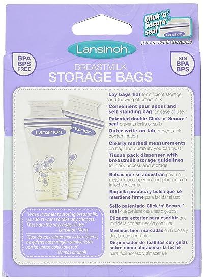 Amazon.com: LANSINOH BREASTMILK STRGE BAGS 50 CT (3 pack): Health & Personal Care