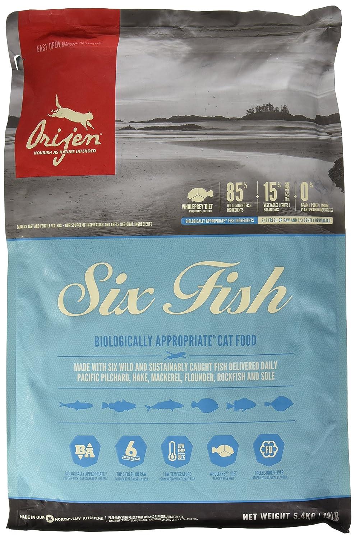 Orijen 6 Fish Comida para Gatos - 1800 gr: Amazon.es: Productos para mascotas