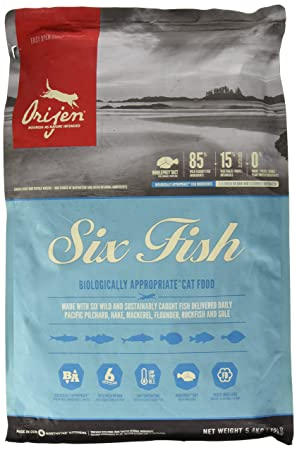 Orijen 6 Fish Comida para Gatos - 5400 gr