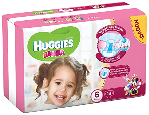29 opinioni per HUGGIES BIMBA 6 13PZ EXTRALARGE 16/30KG