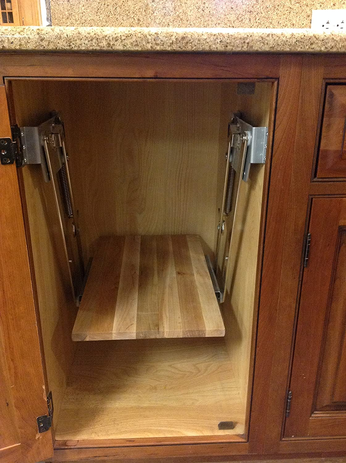 Full Height Base Cabinet Heavy Duty Mixer Lift Rev-A-Shelf RAS-ML-HDCR Trimmable BUNDLE OF 2 ITEMS includes a 3//4 x 15 x 19 Shelf Platform for 21 width Base Cabinet Maple Butcher Block