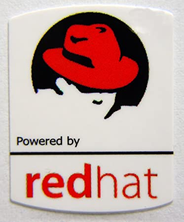 Powered by redhat Linux Sticker 19 x 24mm [508]