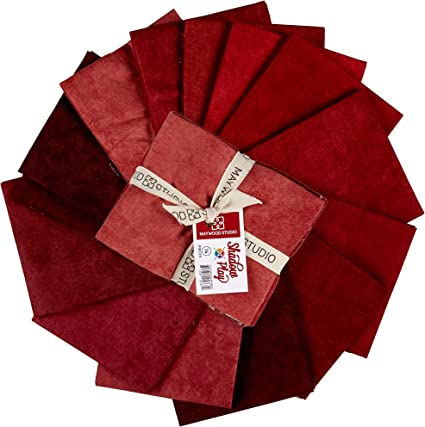 Shadow Play Reds 14 Fat Quarters Maywood Studio