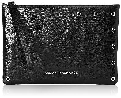 4f1ddbe1ed65 Armani Exchange Small Pouch, Pochettes femme, Noir (Nero), 15.0x0 ...