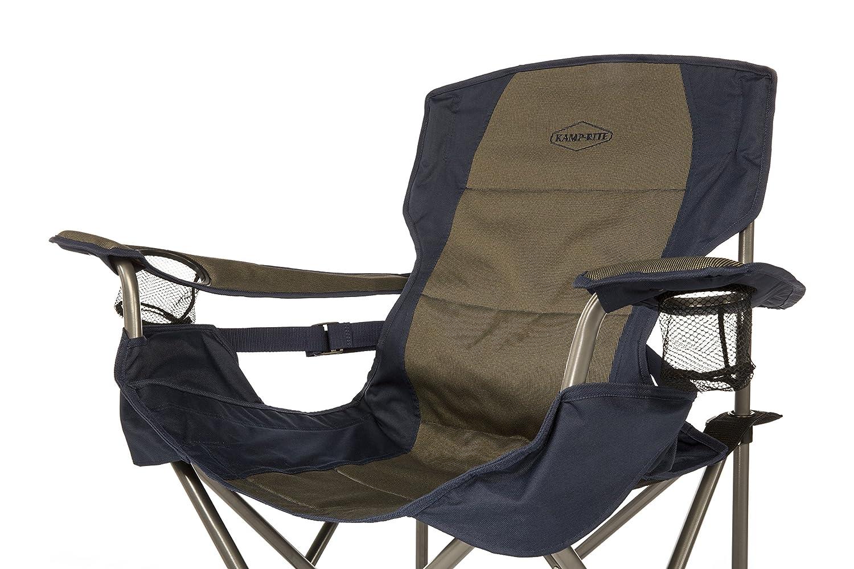 Amazon.com : Kamp Rite Padded Folding Chair With Lumbar Support, Tan/Blue :  Sports U0026 Outdoors