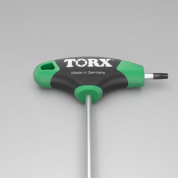 TORX® 70563 Juego de Destornilladores con mango en T 8pz, TX9–TX40, con Duplex Grip — Made in Germany