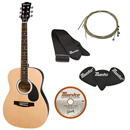 5a6fdb20a8e Amazon.com: Gibson Innovations 6 String Maestro Acoustic Pack (38