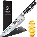 8 inch Chef's Knife Japanese AUS-8 Stainless Steel Chef Knife, High Chromium Kitchen Blade, Gift Box, Sheath, Cleaning Cloth - Fusion Series 8in