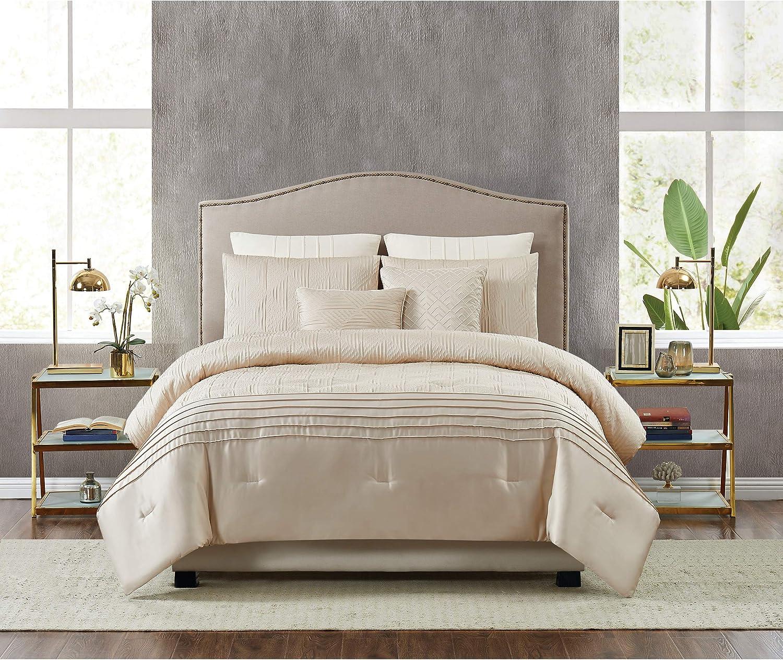 5th Avenue Lux Noelle Luxury 7 Piece Comforter Set, Queen