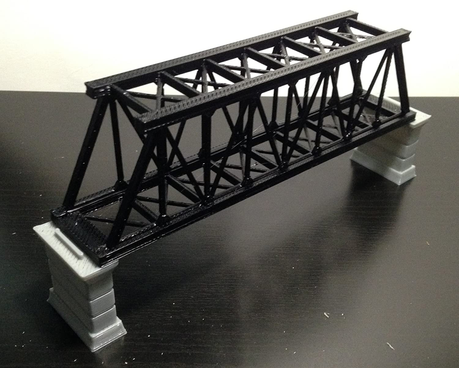 Amazoncom Outland Models Railroad Truss Bridge Black For Single