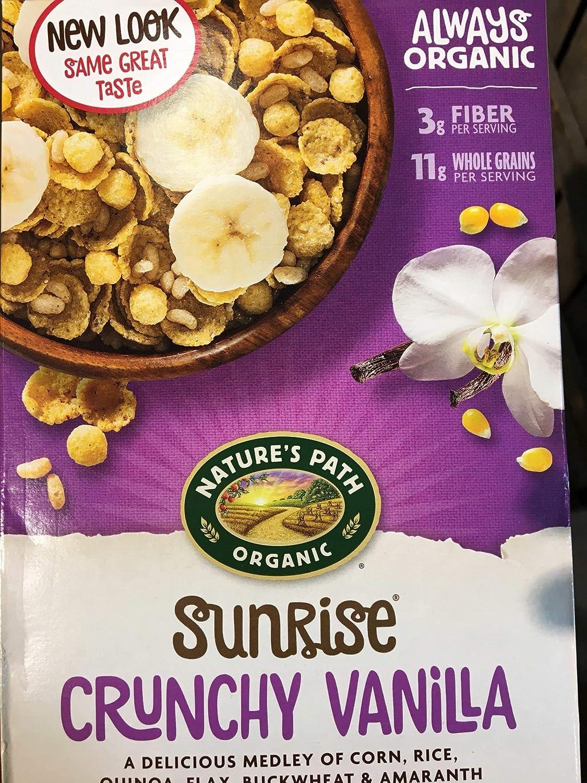 Natures Path, Cereal Sunrise Crunchy Vanilla Organic, 10.6 Ounce