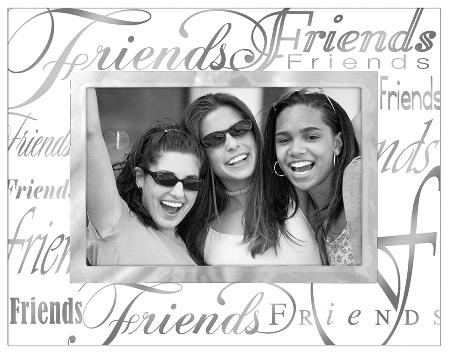Malden Clear Expressions Glass Picture Frame, Friends, 4 by 6-Inch Malden International Designs 3038-46