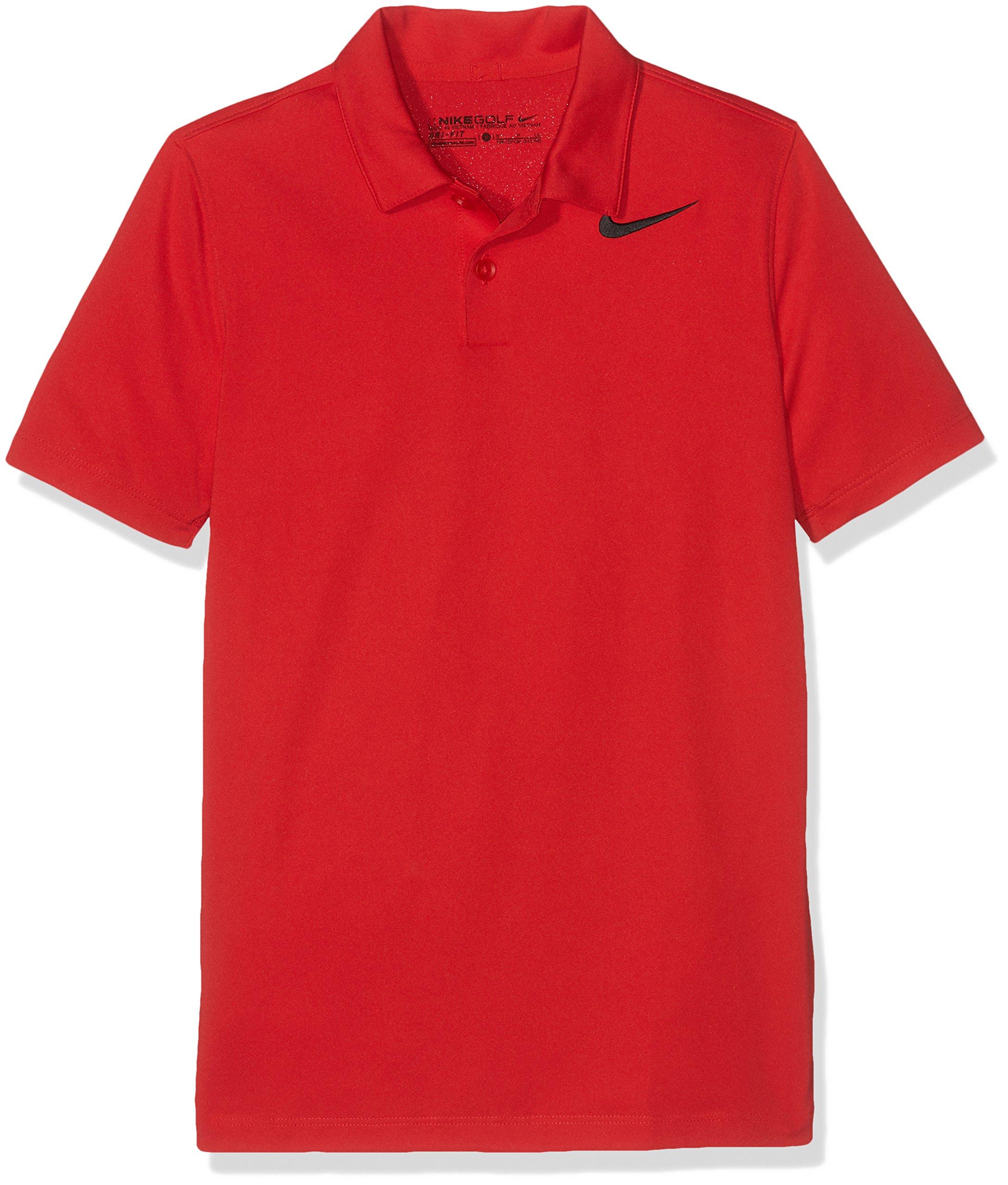 NIKE Boys Dry Victory Golf Polo (Medium, University Red)