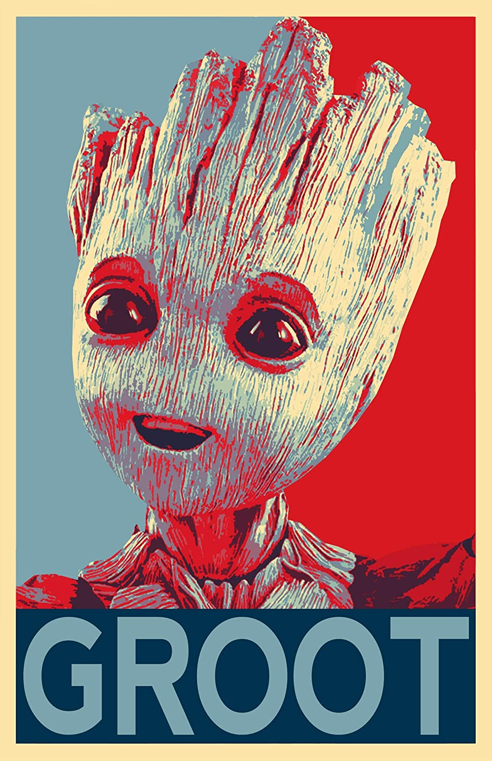 ada26f4c0 Amazon.com: NLopezArt Groot Political Poster- Guardians of The Galaxy -  Marvel Avengers Superhero Pop Art Poster Print (11x17 inches) (11x17):  Posters & ...
