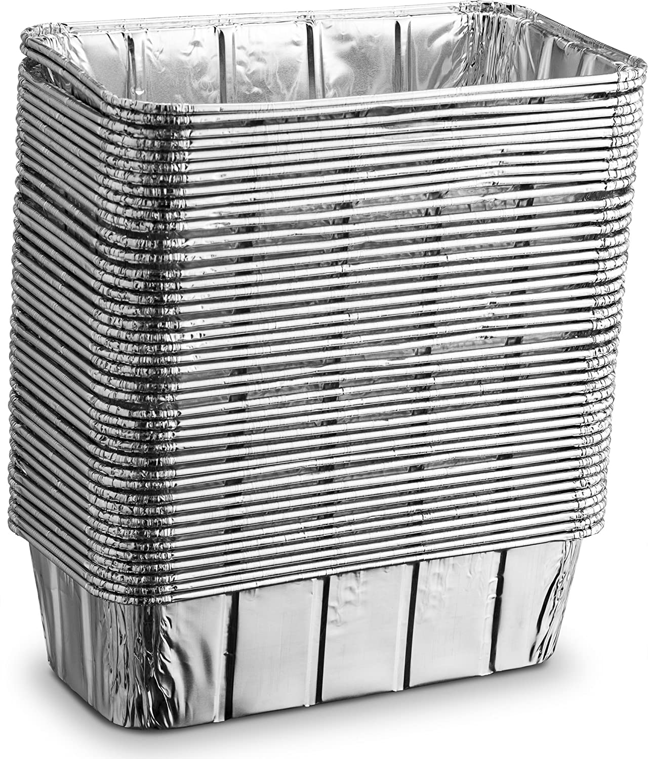 Baking Cooking Broiling Propack Aluminum Disposable Rectangle 3 Pound Loaf Pans For Serving Roasting Cakes 10.5 x 5 x 2.5 Pack of 50 10.5/'/' x 5/'/' x 2.5/'/' Pack of 50 KCH Corporation
