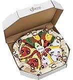 PIZZA SOCKS BOX - Pizza MIX Caprichosa Vege Pepperoni - 4 pares de CALCETINES Divertidos de ALGADON, Unicos y Originales Idea de REGALO| para Mujer y Hombre: Tamaños 36-40 y 41-46, Fabricado en EU